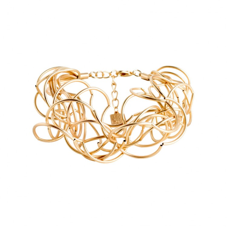 Armband CURLY, col. gold satiniert