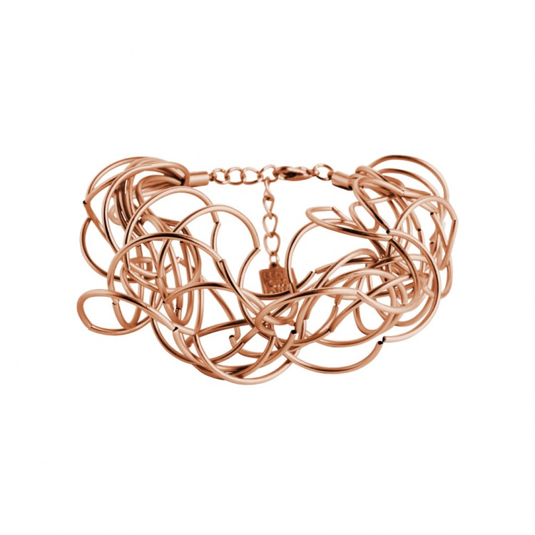 Armband CURLY, col. rosé satiniert