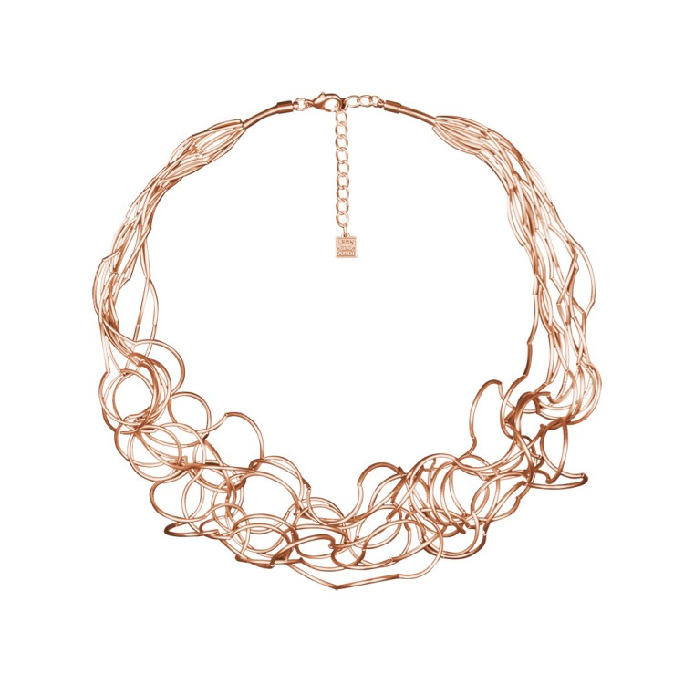 Collier CURLY, col. rosé satin