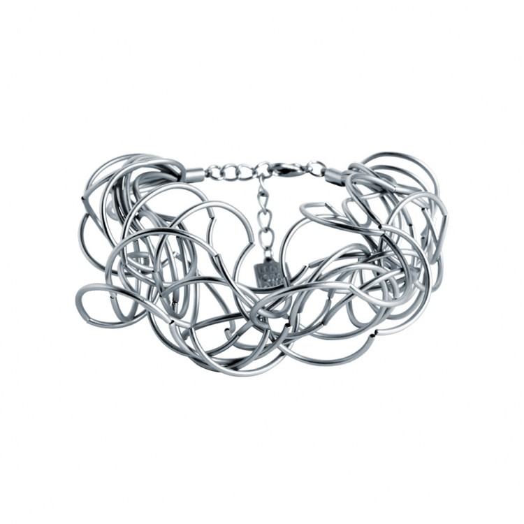Armband CURLY, col. silber satiniert