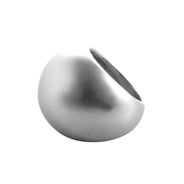 Ring CURLY, col. silber satiniert, Gr. M #55