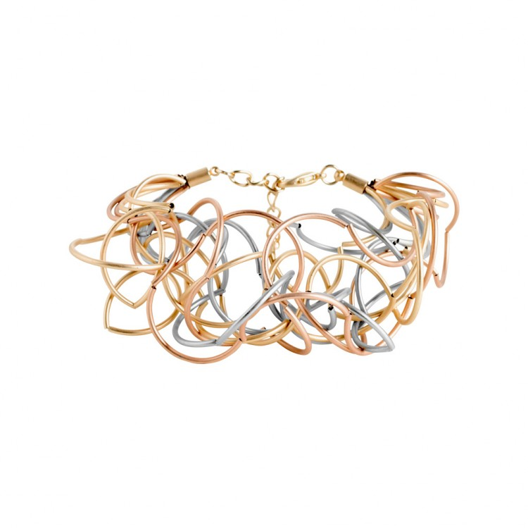 Armband CURLY, col. tricolor satiniert