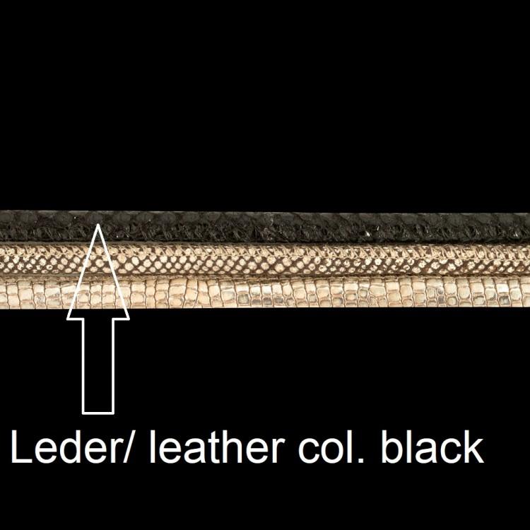 Lederband, D 3mm, L 40 cm, col. nero