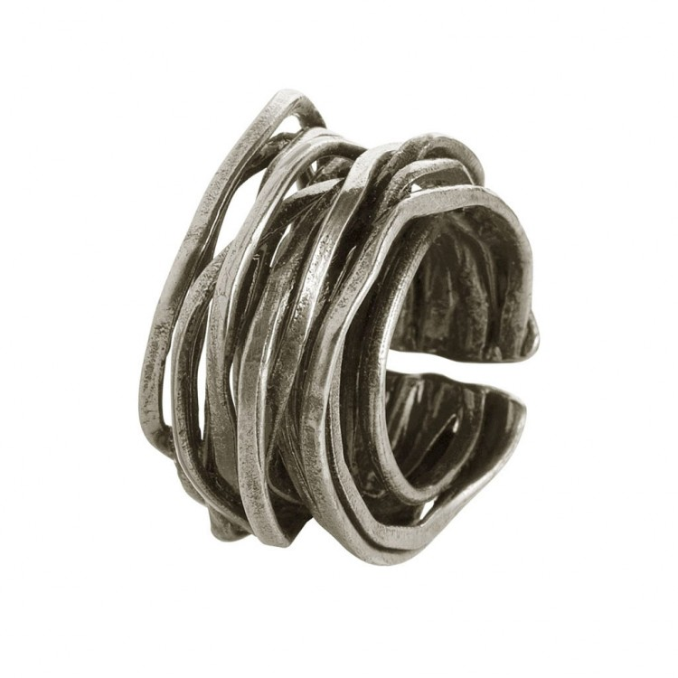 Ring WANGARA, col. silber, Gr.M/L