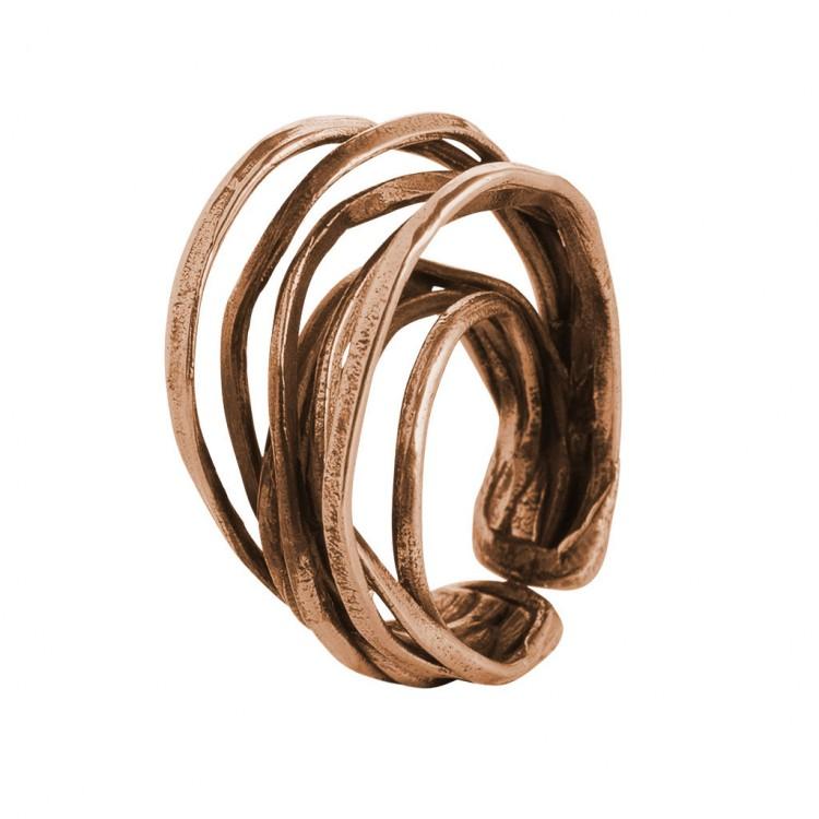 Ring EUMINA, col. bronze gold - O