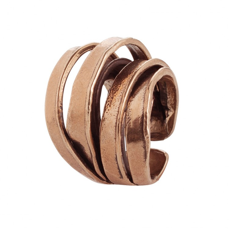 Ring ELANDRA, col. bronze gold - O
