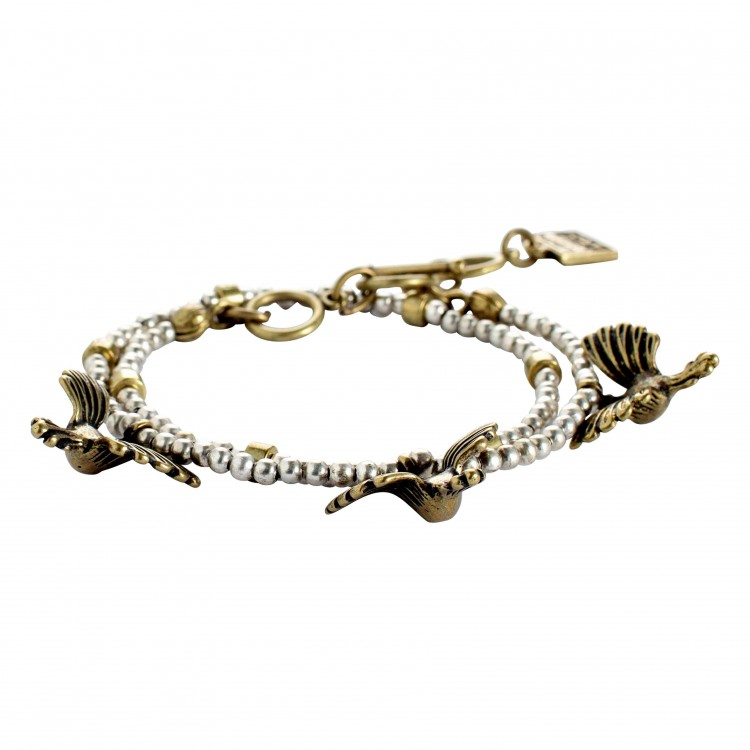 Armband BIRDS-2, col. white/ gold