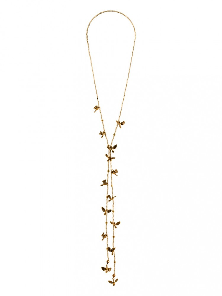 Collier BIRDS-2, col. white/ gold