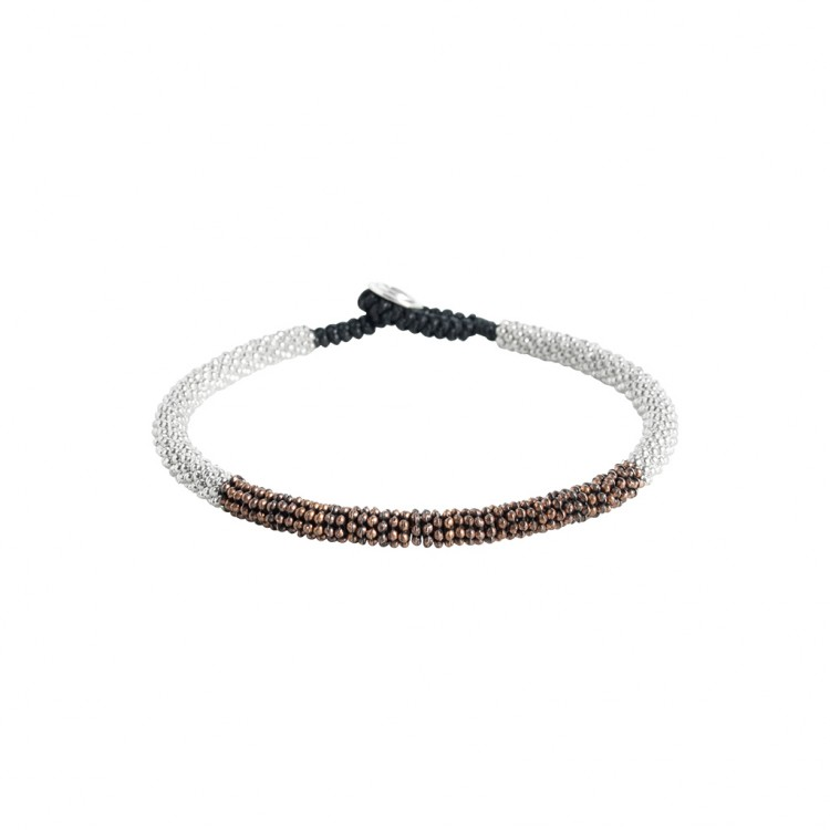 Armband WALLABY, col. rosso scuro/bianco