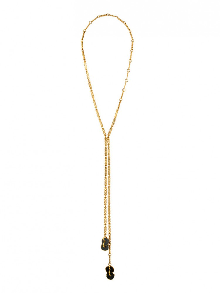Collier SUANI, col. gold/ schwarz