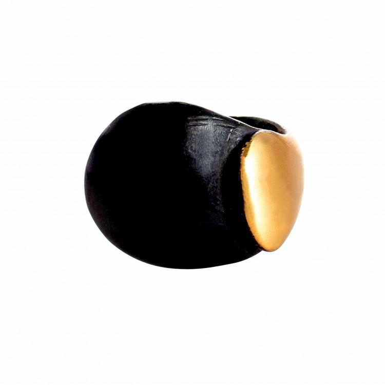 Ring RIANDRA, col. gold/ schwarz