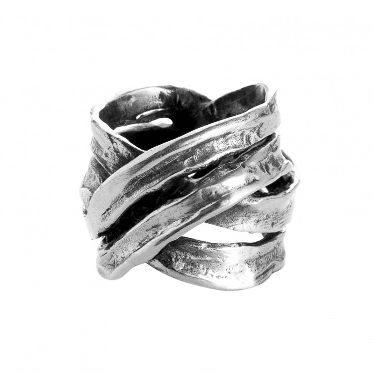 Ring MANARI, col. silber, Gr. M/L