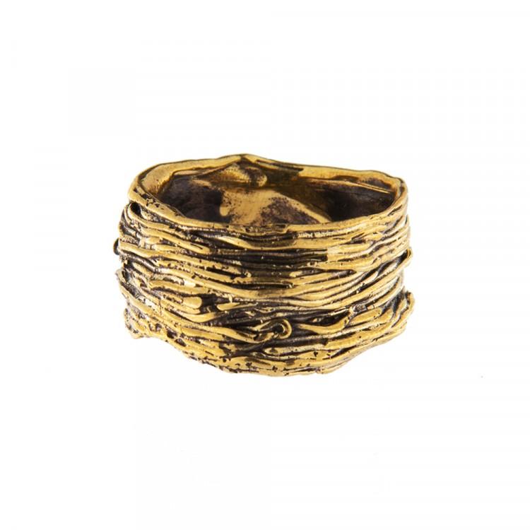 Ring NATYR-2, col. gold antik, Größe S
