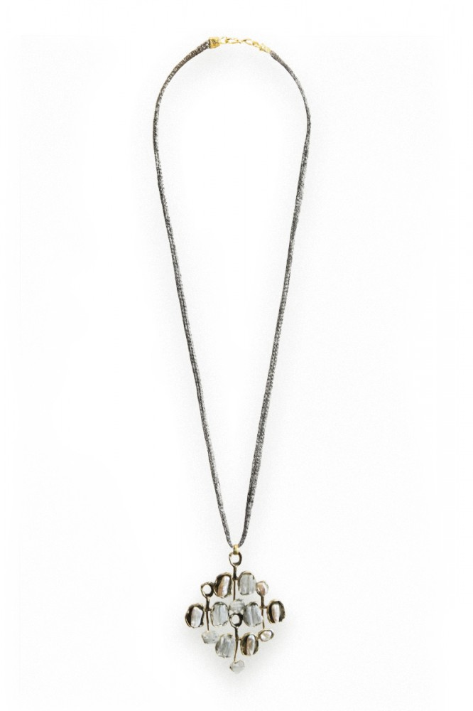 Collier YEAL, col. gold & Achat, Perle