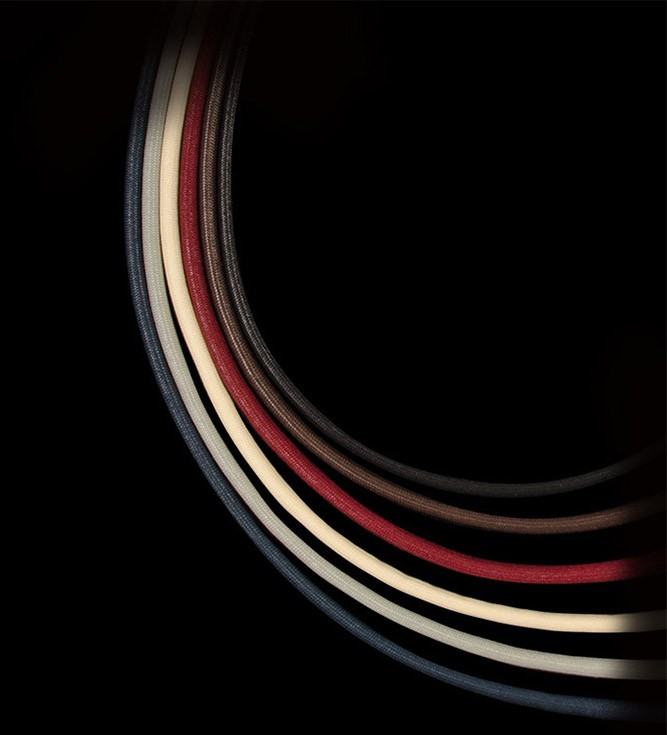 Textilband, D 3mm, L 80 cm, col. choco