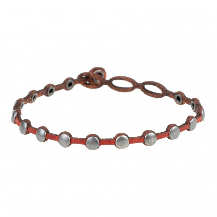 Armband PUNTO, col. ROSSO, one size