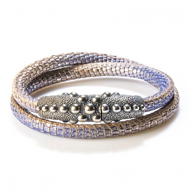 Armband / Collier PERSEO, col. blu/ blau, Gr. M/L