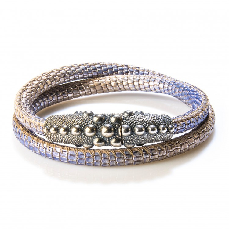 Armband / Collier PERSEO, col. blu/ blau, Gr. S/M