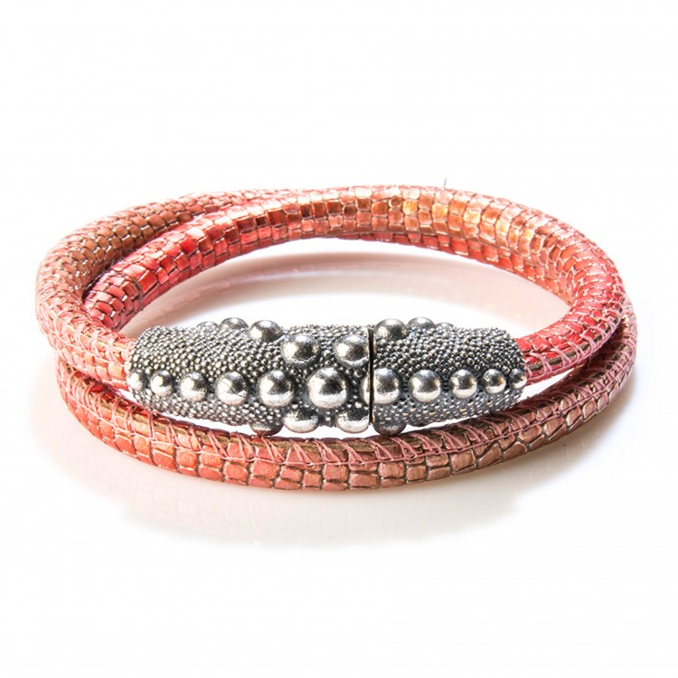 Armband / Collier PERSEO, col. rosso/ rot, Gr. M/L