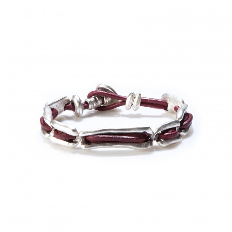 Armband BACON, col. ROSSO, one size