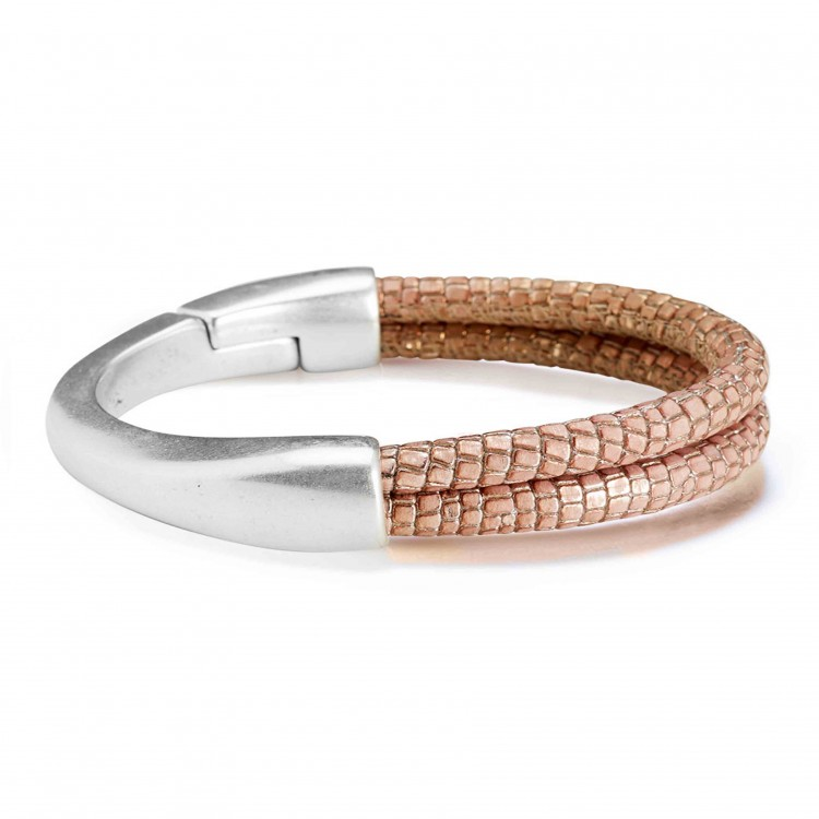 Armband COLOMBO, col. rose/ silber