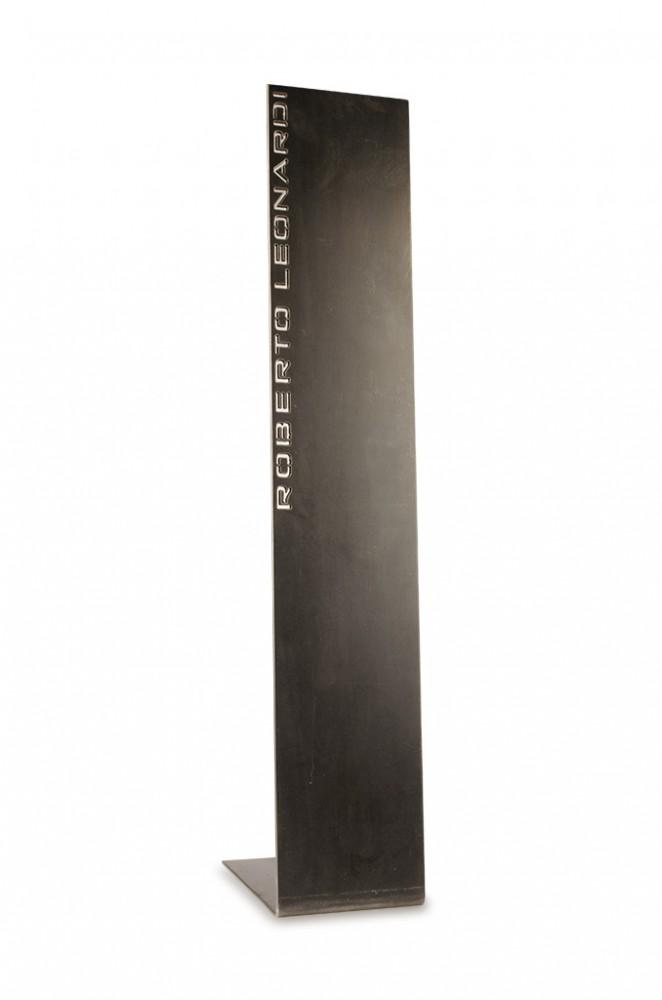 L-Ständer Collier RLEisen, blank/ H53cmxB10cm