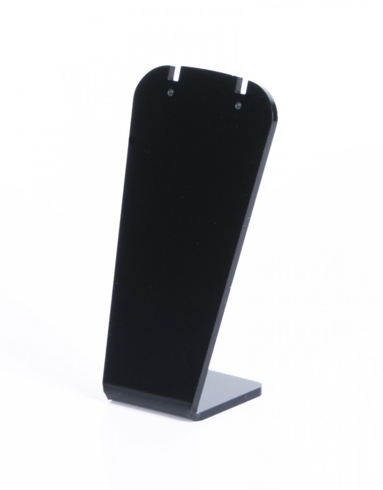 Earrings stand, plexi black matt, H11,5cm B 6cm