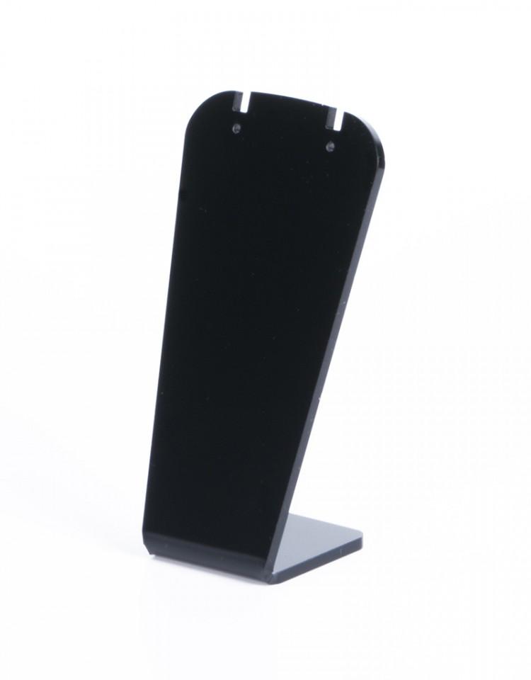 Ohrringständer, Plexi schwarz matt/ H11,5cm B6cm