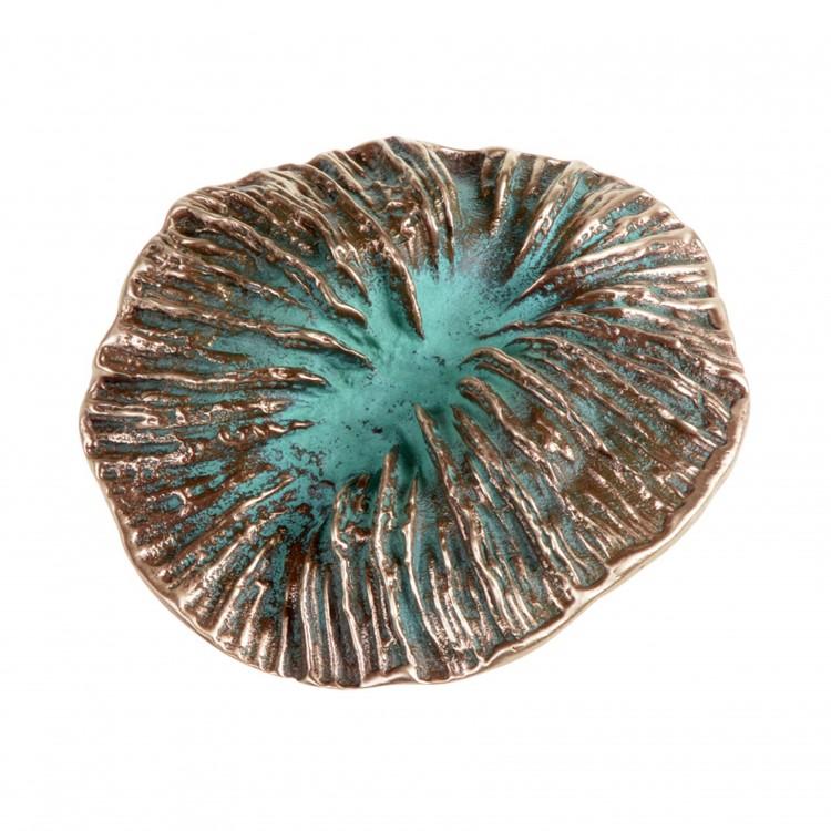 Gürtelschnalle FUNGO, col. bronze, grün