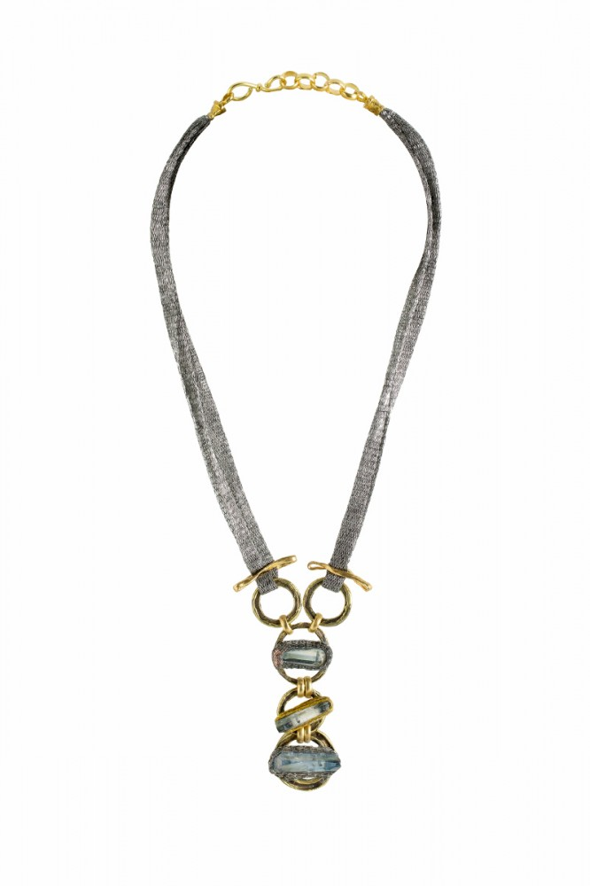 Collier TRES, col. gold & Achat