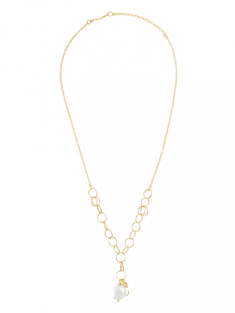 Collier N030, col. gold, Perle