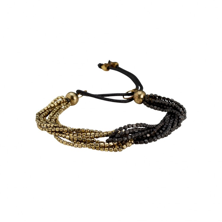 Armband AWINITA, col. gold/schwarz
