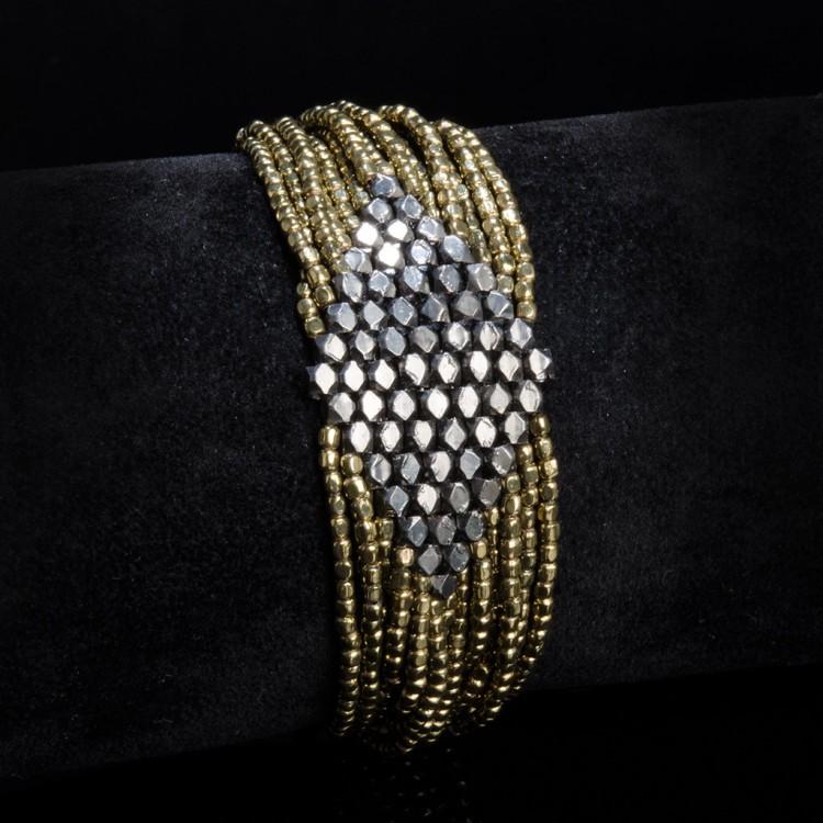Armband IMALA, col. gold/ schwarz