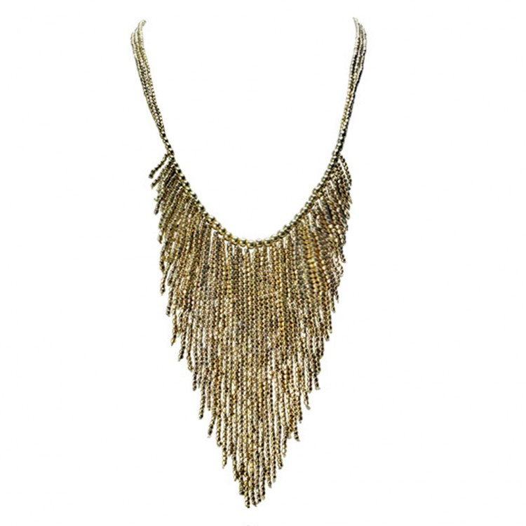 Collier ORINDA, col. gold antik