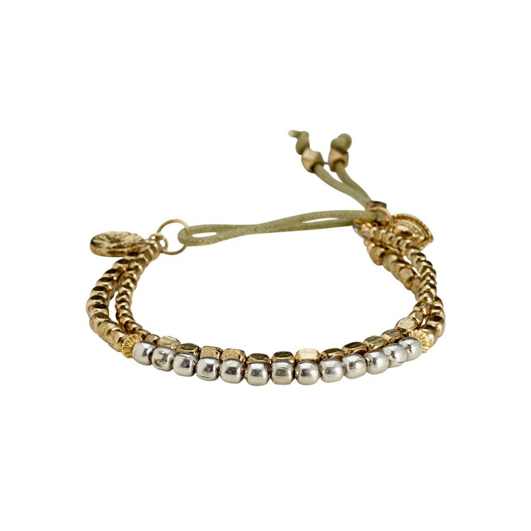 Armband PAKUNA, col. silber/ gold