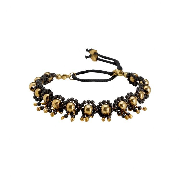 Armband MELI, col. gold/ schwarz