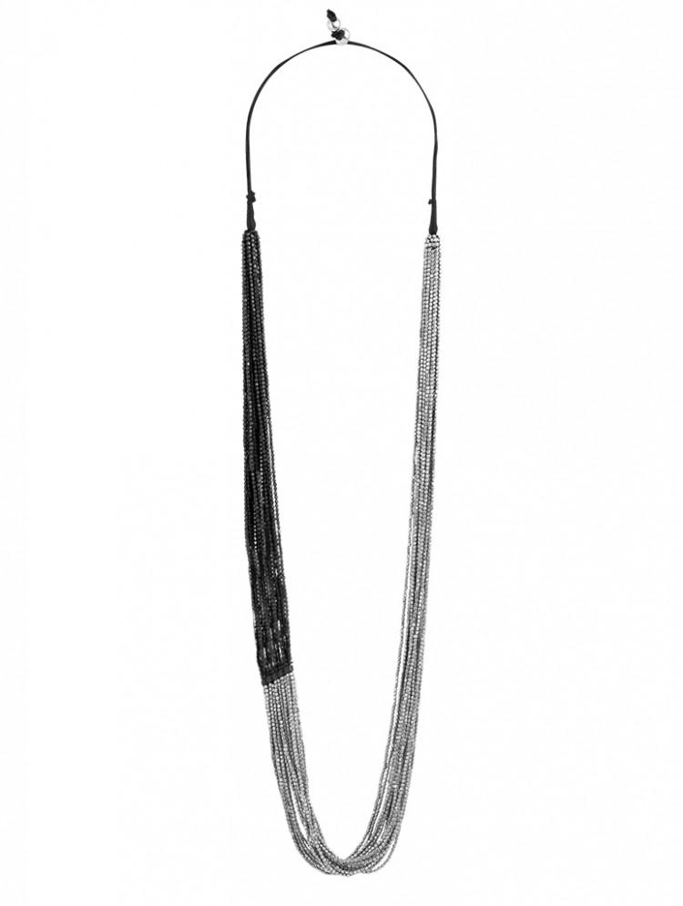 Collier SIHU, col. silber/ schwarz