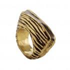 Ring DAVOORI, col. gold/ schwarz, Gr.S