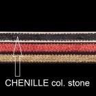 Chenilleband, B 10mm, L 80 cm, col. stone