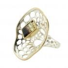 Ring T048, Silber, Lemonquarz Gr.58