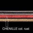 Chenilleband, B 10mm, L 80 cm, col. rust