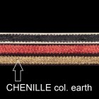 Chenilleband, B 10mm, L 80 cm, col. earth