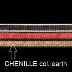 Chenille ribbon, B 10mm, L 80 cm, col. earth