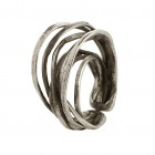 Ring EUMINA, col. silver antique, size M/L