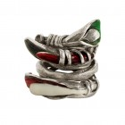 Ring LETIFEY, col. silver antique, size M/L