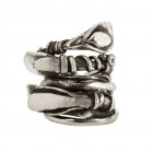 Ring LETIFA, col. silver antique, size M/L