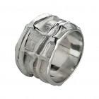 Ring CARO, Silber oxidiert, Gr.58