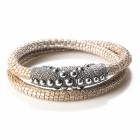 Armband / Collier PERSEO, col. argento/ silber, Gr. M/L
