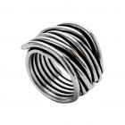 Ring NERAJ019, col. silver oxid., size S