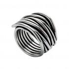 Ring NERAJ019, col. silver oxid., size  XL